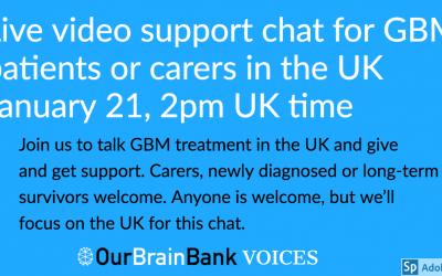 Free live video support chat for UK patients & carers Jan. 21, 2020