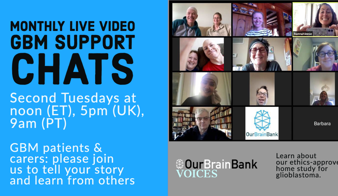 How to use Zoom live video chats for OurBrainBank Voices